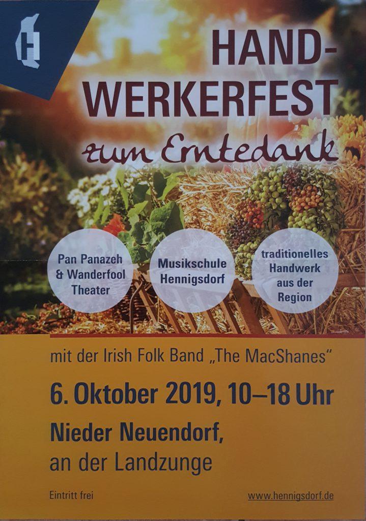 Handwerkerfest zum Erntedank Nieder Neuendorf 2019